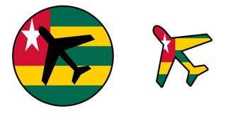 Nation flag - Airplane isolated - Togo Stock Image