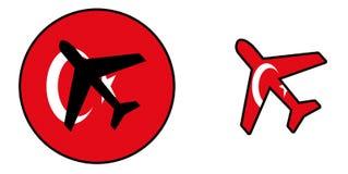 Nation flag - Airplane isolated - Turkey Stock Photo