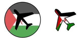 Nation flag - Airplane isolated - Western Sahara Stock Image