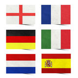 Nation Flag ( europe ) tag recycled paper Stock Photography