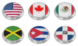 Nation flag icon set Stock Photo