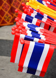 Nation flag of Thailand ,Thai Anti-Government Protesters in Bangkok ,Thailand Royalty Free Stock Image