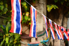 Nation flag of Thailand ,Thai Anti-Government Protesters in Bangkok ,Thailand Stock Images
