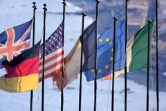 Nation Flags Stock Photo