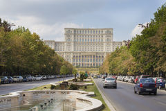 Nation House. The Nation House and Unirii boulevard from Bucharest, Romania Stock Photography