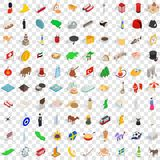100 nation icons set, isometric 3d style. 100 nation icons set in isometric 3d style for any design vector illustration vector illustration