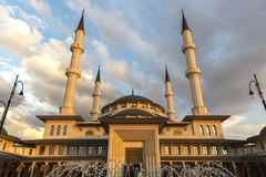 National Mosque in Ankara Turkey royalty free stock photography