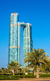 Nation Towers in Abu Dhabi, UAE Royalty Free Stock Photos