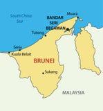 Nation von Brunei, der Wohnsitz des Friedens - Karte Lizenzfreies Stockfoto