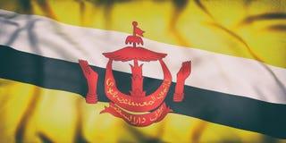 Nation von Brunei fahnenschwenkend Stockfotos