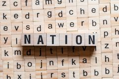 Nation word concept royalty free stock images