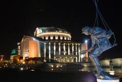 ουγγρικό θέατρο nationa Στοκ εικόνα με δικαίωμα ελεύθερης χρήσης