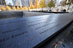 Nationaal 11 September Gedenkteken Stock Foto