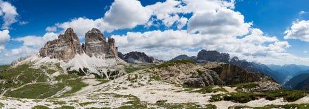 Nationaal Aardpark Tre Cime In de Dolomietalpen Mooi n Stock Foto