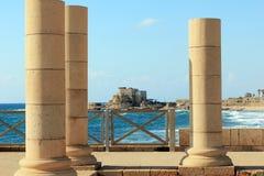 Nationaal Archeologisch Park Caesarea, Israël stock foto's