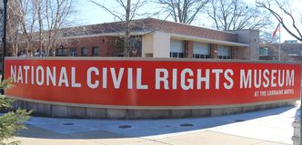 Nationaal Burgerrechtenmuseum in Lorraine Motel stock afbeelding