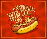 Nationaal de bannerontwerp van de hotdogdag vector illustratie