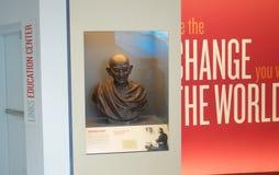 Nationaal de Burgerrechtenmuseum van het Gandhitentoongestelde voorwerp in Lorraine Motel stock fotografie