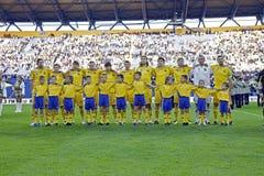 Nationaal de voetbalteam van de Oekraïne Royalty-vrije Stock Afbeeldingen