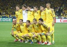 Nationaal de voetbalteam van de Oekraïne Stock Afbeelding
