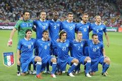 Nationaal de voetbalteam van Italië Stock Afbeeldingen