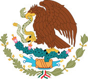 Nationaal embleem Mexico Stock Foto