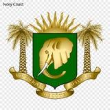 Nationaal embleem of symbool royalty-vrije illustratie