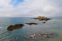 Nationaal fort (Saint Malo, Frankrijk) Stock Afbeelding
