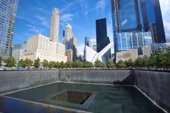 Nationaal 9/11 Gedenkteken bij Grond Nul Stock Afbeeldingen