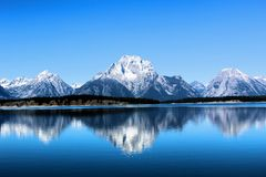 Nationaal het Park enkel zuiden van Grand Teton van Nationale het Park Mooie Bergen van Yellowstone stock foto's