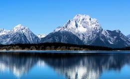 Nationaal het Park enkel zuiden van Grand Teton van Nationale het Park Mooie Bergen van Yellowstone royalty-vrije stock afbeeldingen