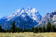 Nationaal het Park enkel zuiden van Grand Teton van Nationale het Park Mooie Bergen van Yellowstone stock foto