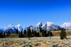 Nationaal het Park enkel zuiden van Grand Teton van Nationale het Park Mooie Bergen van Yellowstone royalty-vrije stock fotografie