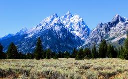 Nationaal het Park enkel zuiden van Grand Teton van Nationale het Park Mooie Bergen van Yellowstone royalty-vrije stock afbeelding
