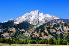 Nationaal het Park enkel zuiden van Grand Teton van Nationale het Park Mooie Bergen van Yellowstone royalty-vrije stock foto