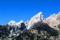 Nationaal het Park enkel zuiden van Grand Teton van Nationale het Park Mooie Bergen van Yellowstone stock afbeelding