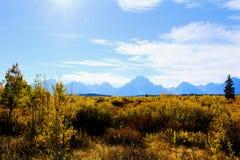 Nationaal het Park enkel zuiden van Grand Teton van Nationale het Park Mooie Bergen van Yellowstone royalty-vrije stock foto's