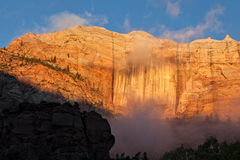 Nationaal het parklandschap van Zion Stock Foto