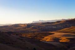 Nationaal het Parkpanorama van Golden Gatehooglanden, Zuid-Afrika Stock Fotografie
