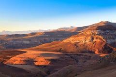 Nationaal het Parkpanorama van Golden Gatehooglanden, Zuid-Afrika Stock Afbeelding