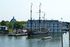 Nationaal Maritiem Museum in Amsterdam stock fotografie