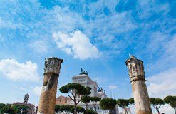 Nationaal Monument aan Victor Emmanue 2, Rome Stock Afbeelding