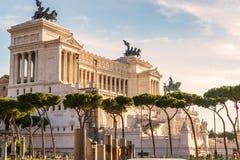Nationaal Monument aan Victor Emmanuel II in Rome Royalty-vrije Stock Foto's