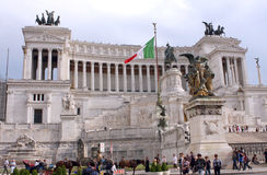 Nationaal Monument aan Victor Emmanuel II Rome - Italië Royalty-vrije Stock Foto