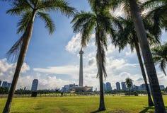 Nationaal Monument in Djakarta stock foto