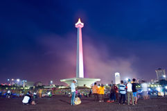 Nationaal Monument en Blu Sky Stock Foto