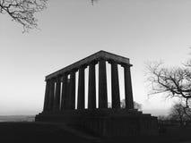 Nationaal monument op heuvel Calton stock afbeelding