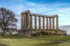 Nationaal Monument van Schotland stock afbeelding