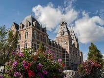 Nationaal Museum 'Rijksmuseum 'in Amsterdam, Nederland stock foto
