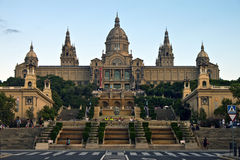 Nationaal Museum in Barcelona Stock Fotografie